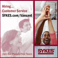 Sykes is Hiring Customer Service - Click on banner for more information.
