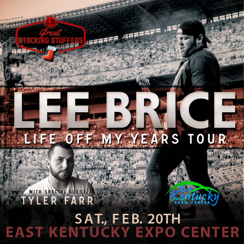 Lee Brice - Pikesville, KY - WMJD NEWS - February 20 2015 - East Kentucky Expo Center - Life Of My Years Tour - WMJDradio.com