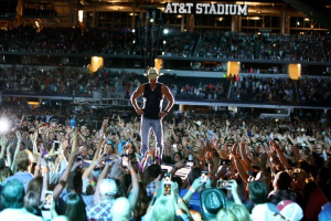 Kenny Chesney performing at the ATT stadium